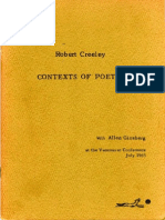 Contexts of Poetry CompleteCREELY GOOD