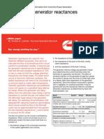 Calculating Generator Reactances