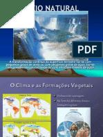 Meio Natural - Clima Formacoes Vegetais