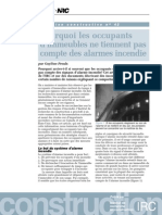 Pourquoi Occupant Alarme