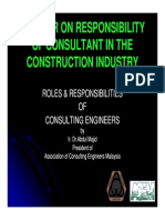 Paper 3 - Roles & Responsibity of Consulting Engineers