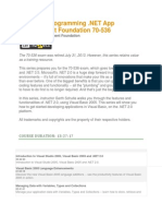 Microsoft Programming .NET App Development Foundation 70-536