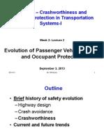 Evolution of Passenger Vehicle Safety