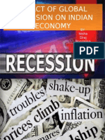 Impact of Global Recession on Indian Economy By
