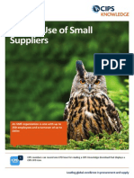 POP-Use of Small Suppliers