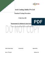 Tape test for coatings