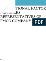 Motivational factors for FMCG company