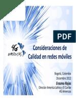 Consideraciones de Calidad en Redes Mviles - 4G Americas