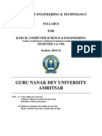 Btech Computer Science and Engg Semester i to Viii