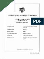 OSHA SEM 2 (10-11)