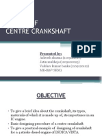 designing of center crankshaft