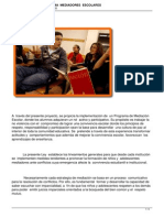 Proyecto de Ley Programa Mediadores Escolares