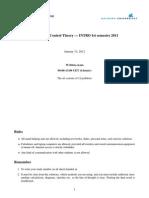 Written Exam 2011