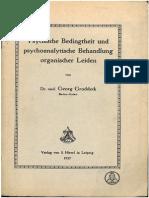 Groddeck 1917 PsychischeBedingtheit k