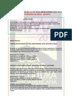 Agenda Lima Cultura Julio Agosto 2014