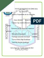 Reporte de Estructura de Los Materiales Orgánicos