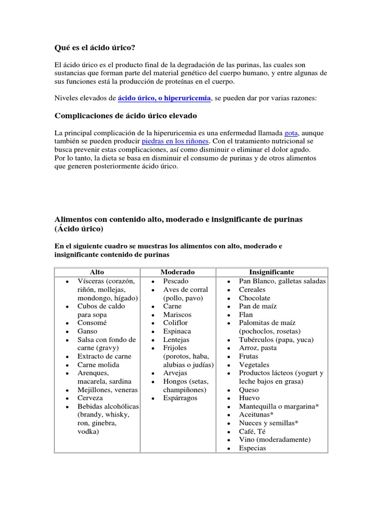 sintomas de niveles bajos de acido urico