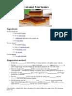 Recipe Caramel Shortcakes Students