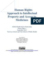 A Human Rights Approach to IP & Access to Medicines [H Brennan Et Al 2013]