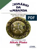 Dicionário Da Umbanda - Anexo Pequeno Vocabulário Da Língua Yorubá - Altair Pinto