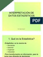 Interpretacion de Datos Estadisticos