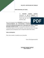 SOLICITO Certificado de Trabajo 1