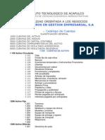 Catalogo de Cuentas y Guia
