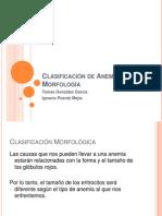 Clasificación de Anemias Por Su Morfología