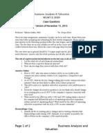 BAV Case Questions January 2013_Version of November 13 2012