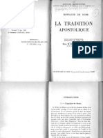 HIPPOLYTE de Rome (1946) La Tradition Apostolique