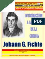 Libro Nro.208. Introducción a La Teoría de La Ciencia. Johann G. Fichte. Colección Emancipación Obrera. Enero 8 de 2011