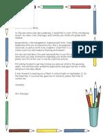 parentletter classinformation