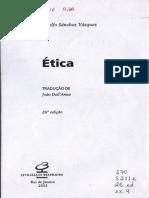 Livro de ÉTica Apostila Adolfo Sanchez VáSquez - Cap 1 e 2