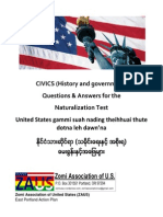 U.S. Naturalization 100 Civics Questions and Answers In  English, Zolai & Burmese
