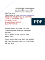 Selling Test Bank, Solution and PDF BooK