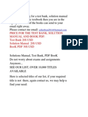 Selling Test Bank, Solution and PDF BooK | Management