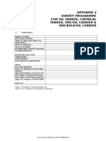 Appendix 2 - Survey Planning Document - Tanker, Oo, Obo, Chemical