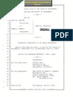 Judge Matthew Gary Caught on Transcript Unaware of Court Reporter - Illegal Summary Denial of Ex Parte Motion for Illegal Child Abduction - Collusion With Judge Pro Tem Scott Buchanan Partner Tim Zeff - Susan Ferris Case Sacramento Superior Court