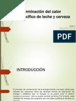 Determinación Del Calor Específico de Leche y Cerveza_P1