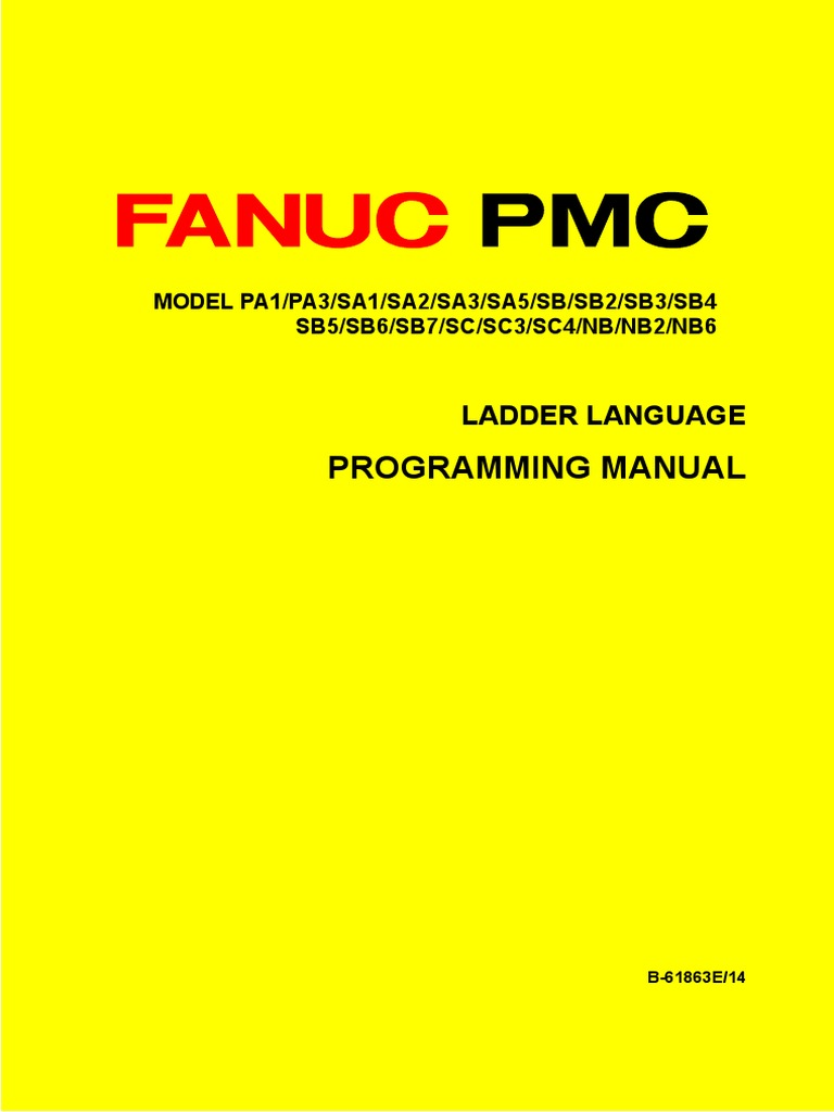 Fanuc pmc ladder language programming manual