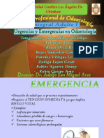 Expo III Unidad - Urgencias y Emergencias Odontologicas