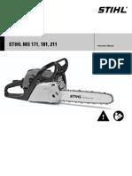 Stihl 211 Chainsaw Manual