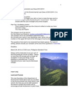 Final Exams - Environmental Law Class 2013-2014