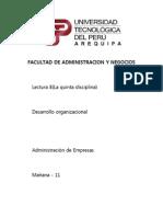 Desarrollo Organizacion - Lectura 8 Lista