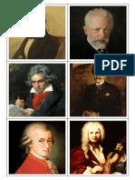 Cartonase Montessori Compozitori