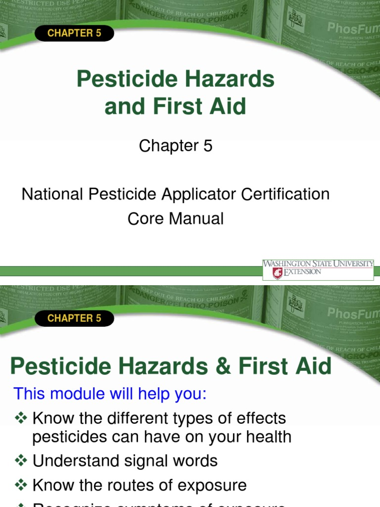 National Core Manual Chapter 5 Pesticide Hazards And First Aid