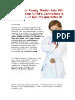 Childrens Martial Arts & Kickboxing Brochure