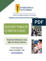 Educacion y Trabajo Salud VCC DRHUS