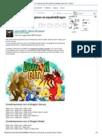 Combinaciones de Dragónes en Español(Dragon City)