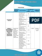 Cronograma Calidad en Productos Lacteos